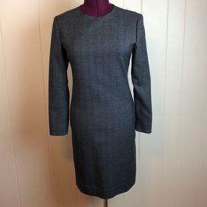 Vintage 80s/90s Grey Pinstriped Shift Dress